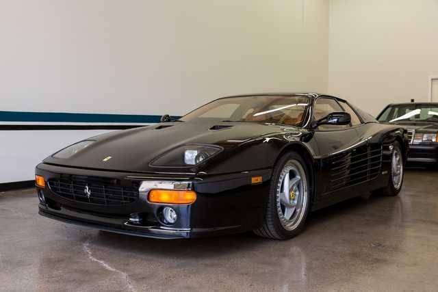 dirtyoldcars.com   1995 ferrari 512M black  tan  39k miles   5