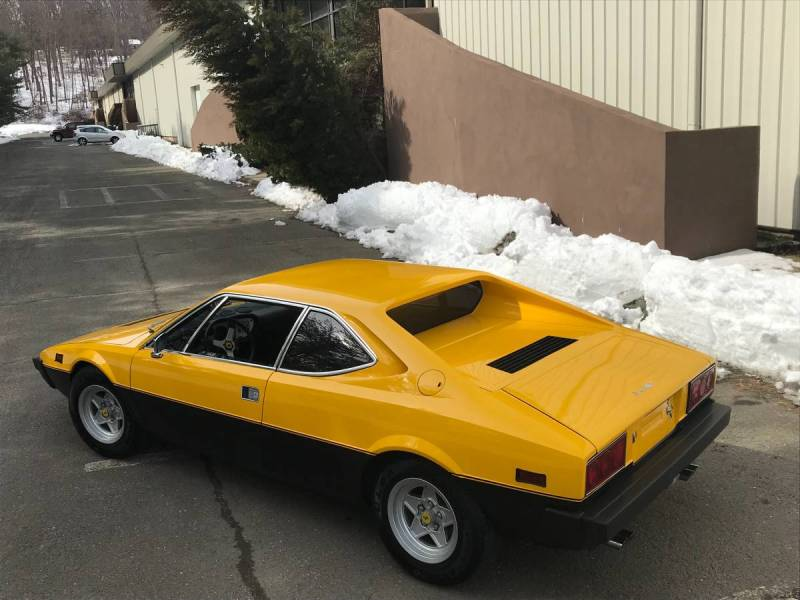 dirtyoldcars.com  1975 ferrari 308 gt4  yellow boxer scheme  47k   52k miles  Connecticut  7