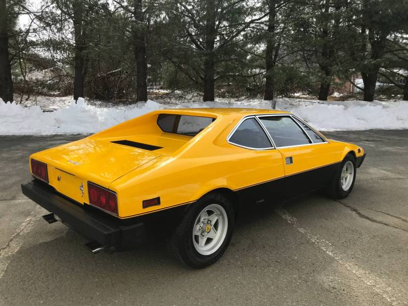 dirtyoldcars.com  1975 ferrari 308 gt4  yellow boxer scheme  47k   52k miles  Connecticut  4