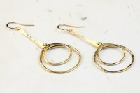 Double Happiness - Rustic Dangle Hoop Earrings - Hammered ...