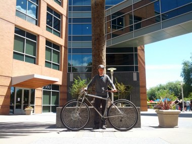 """6'7"""" rider in Mountain View."""