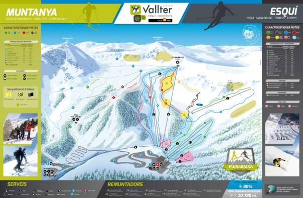 Mapa de pistas y rutas de Vallter2000