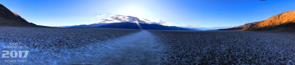 Sun Beaming through the Cloud into the Basin, Badwater Basin