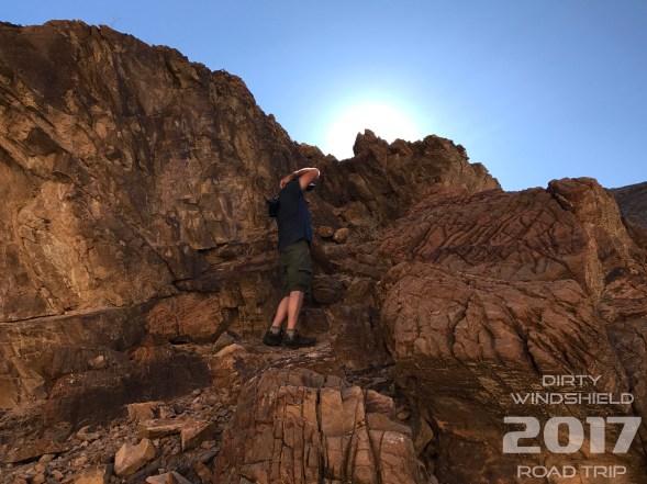 Climbing Toward the Sun, Mosaic Canyon Trail, Death Valley National Park