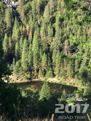 Water nestled neath the Mountain, Yosemite National Park