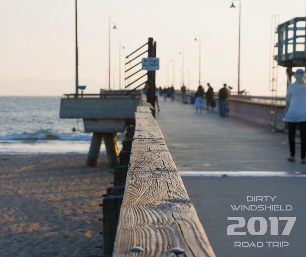 Venice Beach Pier, Dirty Windshield Road Trip