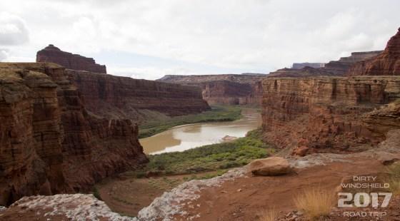 Colorado River Vista along Schafer Trail