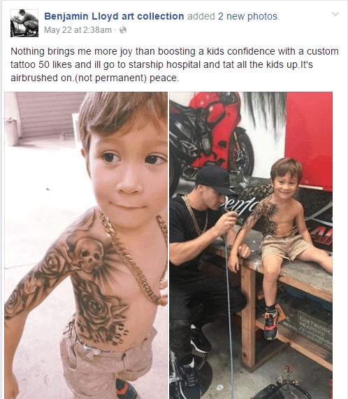 Video Hace Felices A Niños Enfermos Con Tatuajes Temporales