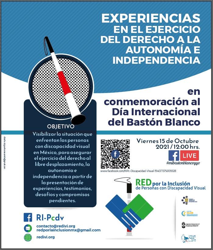Cartél del foro Experiencias en el ejercicio del derecho a la autonomía e independencia.