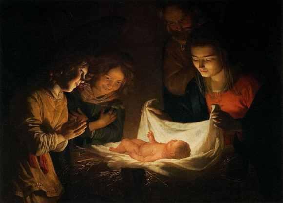 Gerard van Honthorst - Adoration of the Child