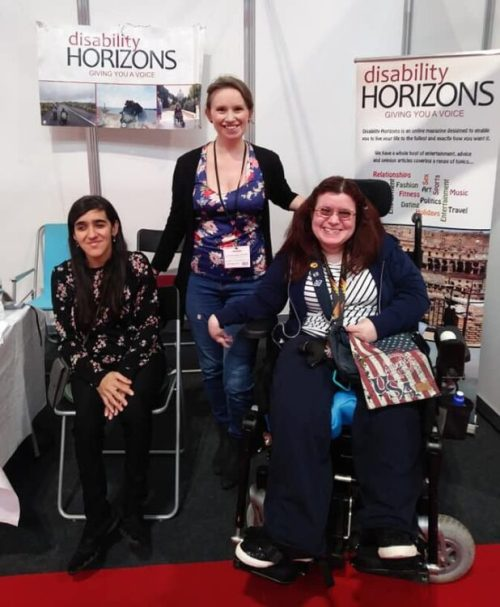 Zubee, Liz and Emma at Naidex 2019