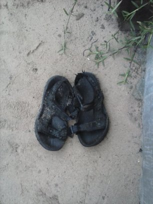 The third pair, after the rubber boots disappeared