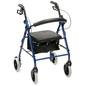 Roll over image to zoom in Drive DeVilbiss Healthcare R8 Blue Aluminium Rollator