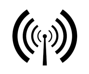 Radio signals from antenna