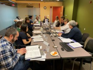 PAIMI Advisory Council members meeting in DRW Milwaukee conference room