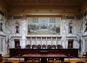 Interior of Wisconsin Supreme Court