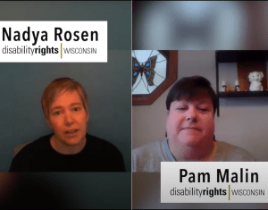 Nadya Rosen and Pam Malin of DRW speaking in video about Domestic Violence and COVID-19 pandemic