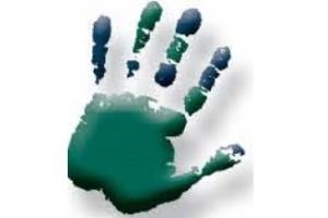 green handprint