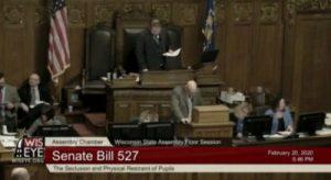 WIsconsinEye passing of senate bill 527