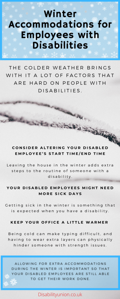Winter Accommodations for Employees with Disabilities