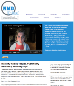 Screen shot of NMD United website: http://nmdunited.org/index.html