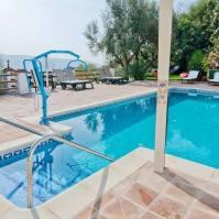 Pool with hoist