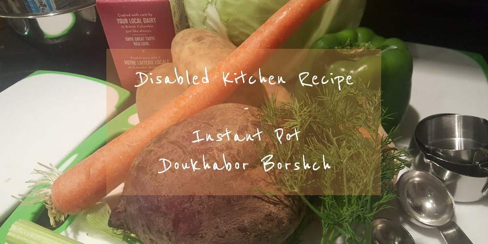 Instant Pot Recipe Doukhabor Borshch ingredients
