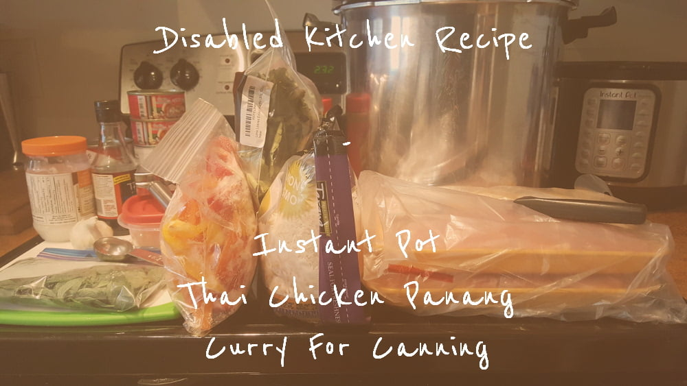 Instant Pot Thai Chicken Panang Curry title card