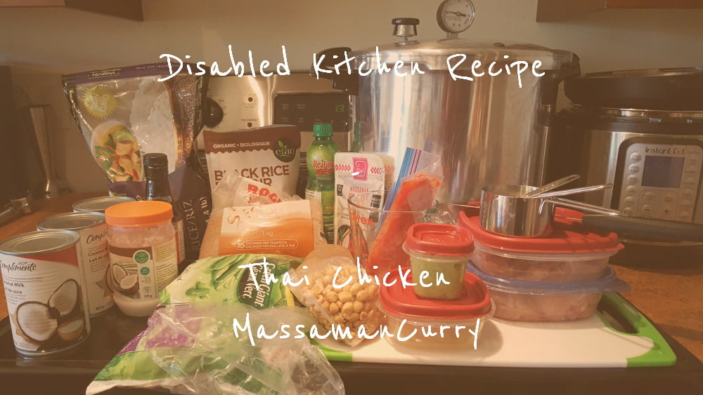 Disabled Kitchen Recipe Thai Chicken Massaman Curry title card