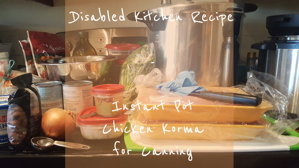 Instant Pot Chicken Korma title card