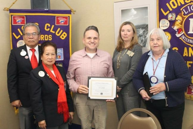 Tony and members from the Lions Club