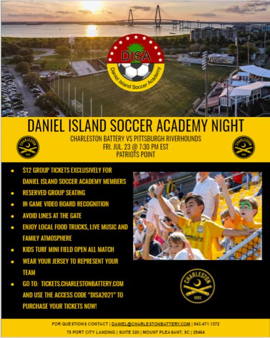 DISA Night at the Charleston Battery - July 23, 2021
