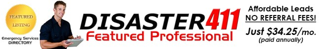 DISASTER411 Restoration Services Directory - Featured Professional