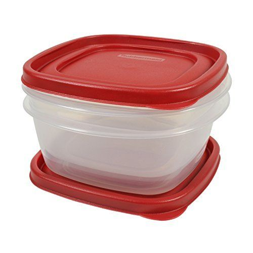 Rubbermaid Easy Find Lid Food Storage Set, 5 Cup, 4 Piece set (2 Cups and 2 New 1