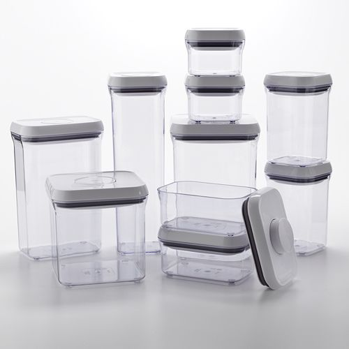 Oxo Good Grips 10-Piece Food Storage Pop Container Set ~~ Brand New !!! 2