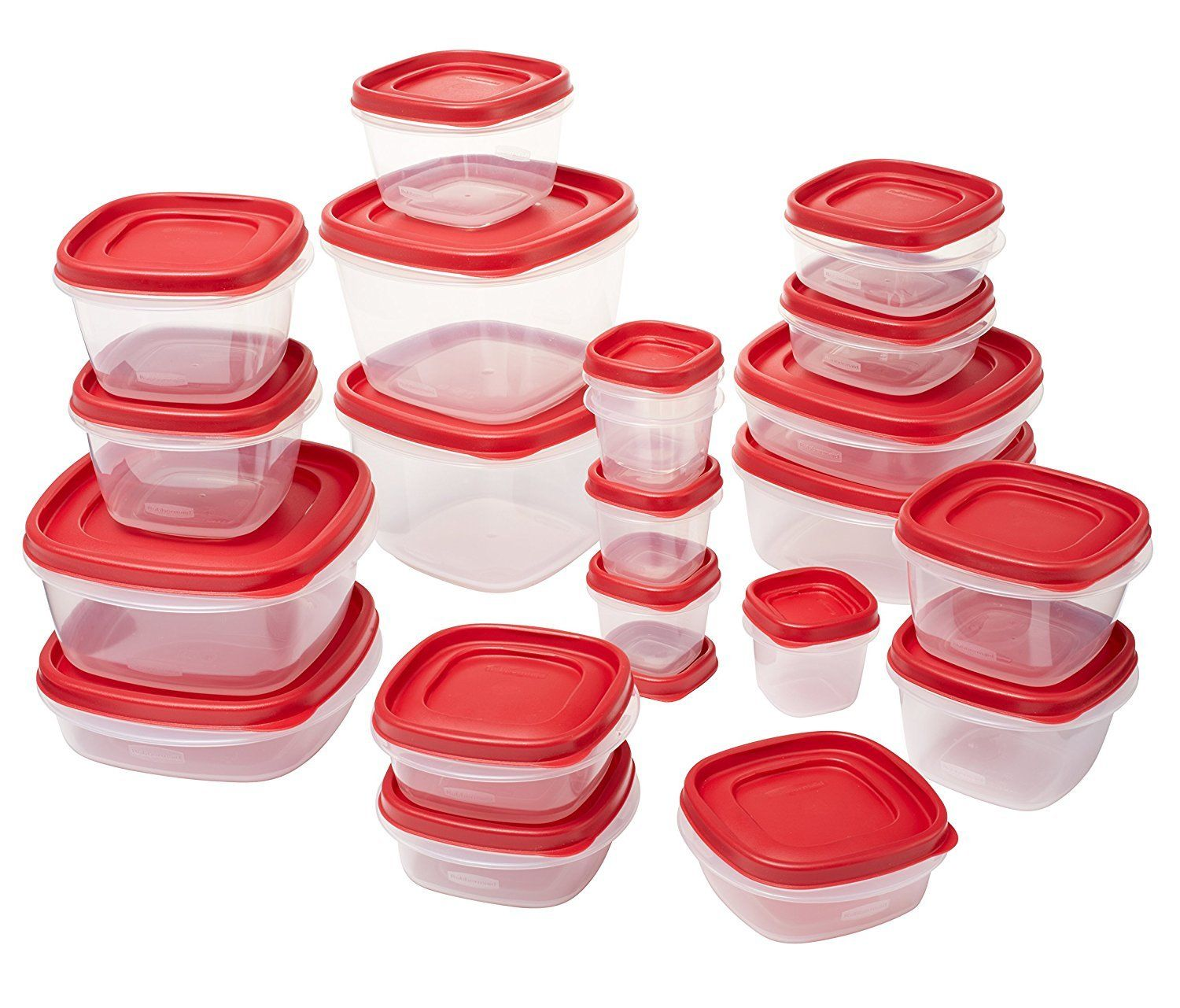 Rubbermaid Easy Find Lids Food Storage Containers, 8 Sets 1