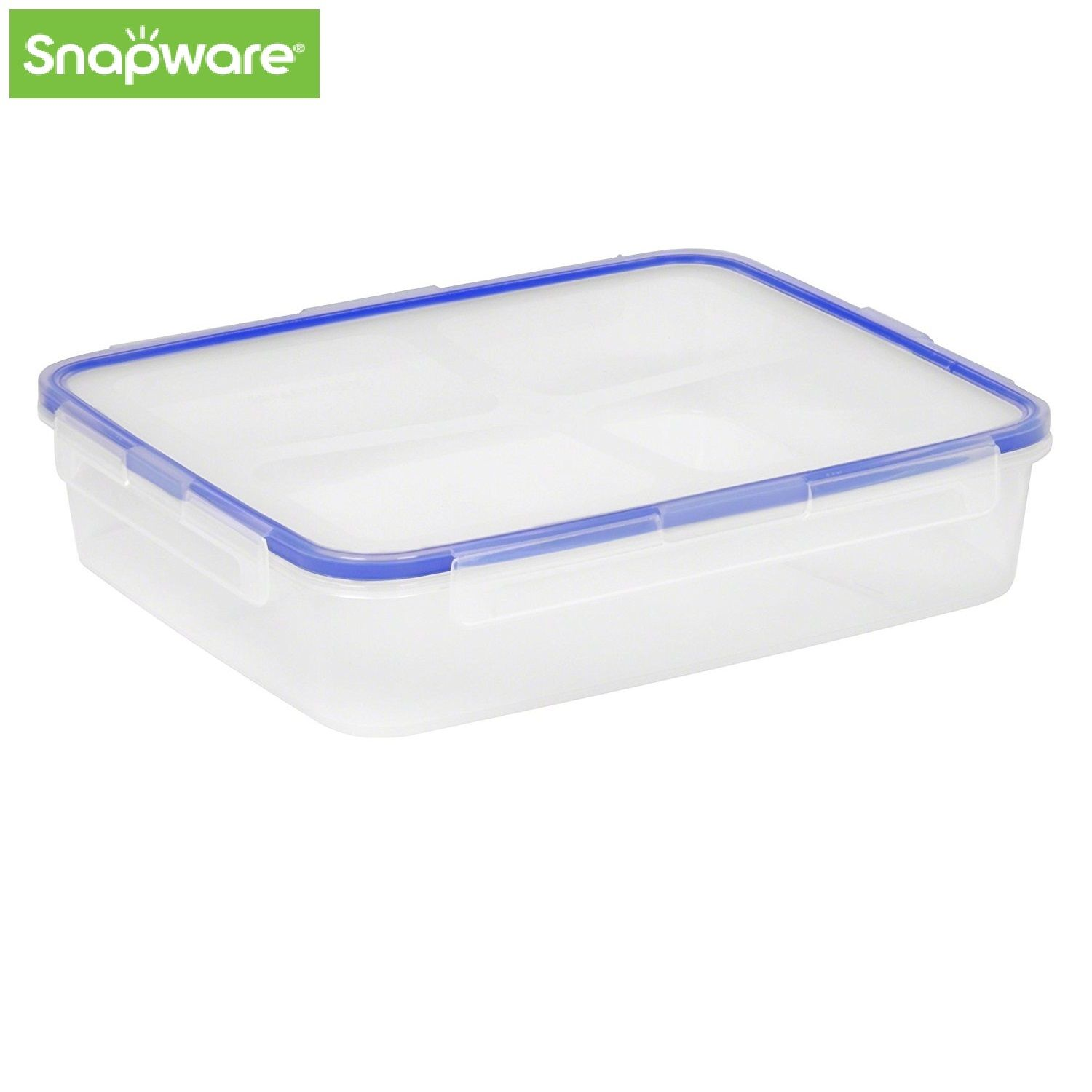 Snapware 8-Cup Airtight Rectangle Food Storage Container, Plastic Large, 1098434 1