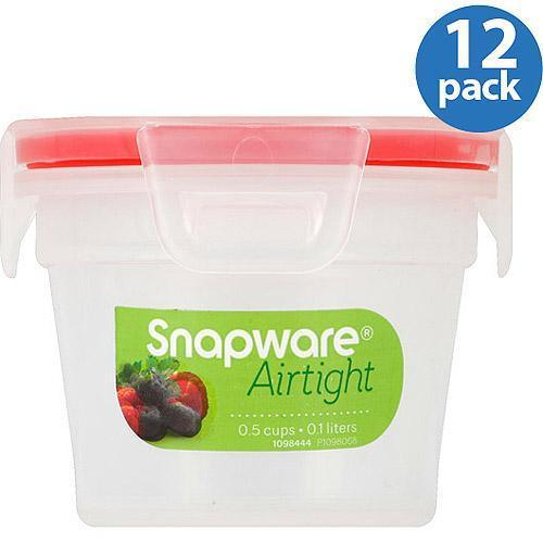 Snapware Airtight Plastic 0.5 Cup Nesting Food Storage Container Bowl, 12 Pack 2