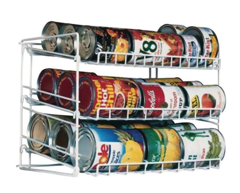 Can Food Storage Kitchen Pantry Cabinet Organizer Canned Goods Rack Holder Shelf 1