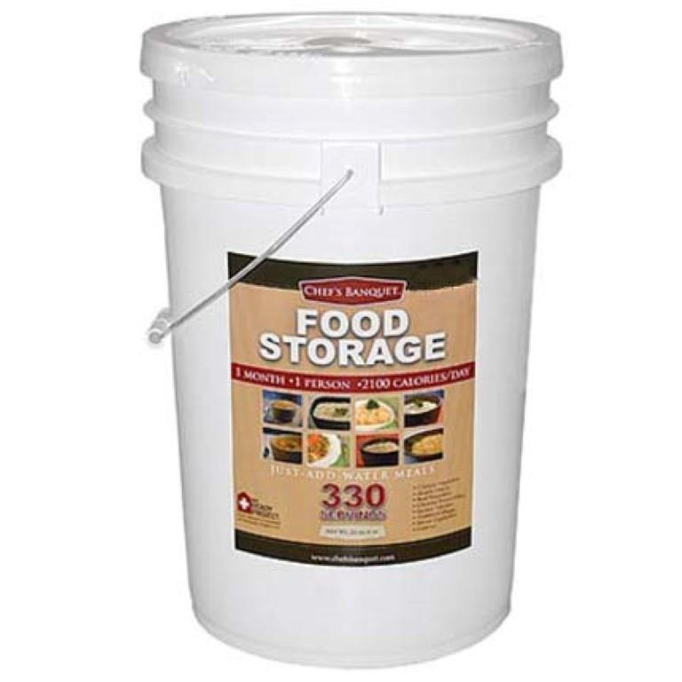 Chef's Banquet 1-Month (330 Servings) Emergency Food Supply / Food Storage Kit 1