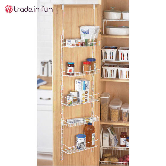 Over The Door Storage Rack 5 Shelves Kitchen Pantry Food Spice Hanging Organizer 1