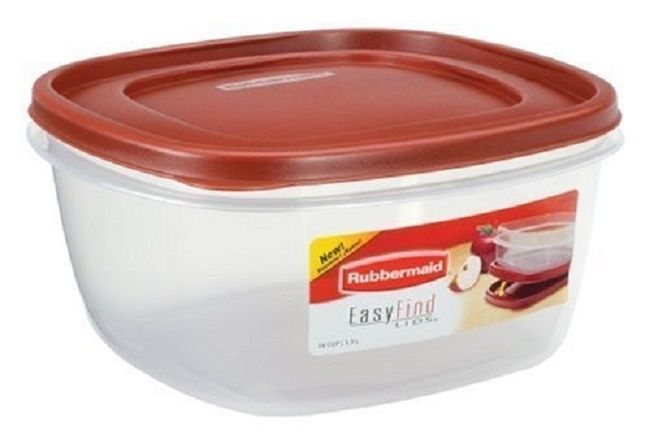 Rubbermaid Easy Find Lid Food Storage Container BPA-Free Plastic 14 Cup (Pack 4) 1
