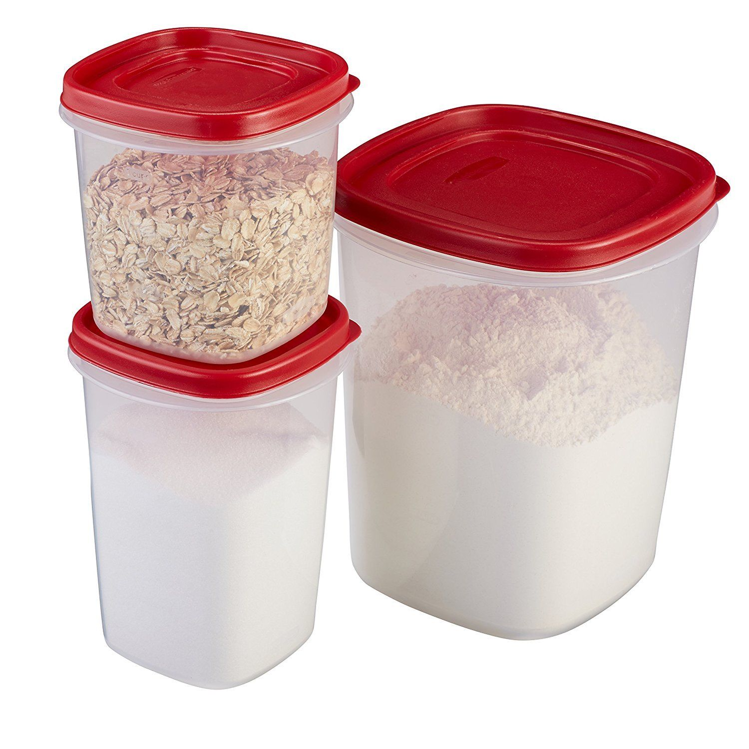 Rubbermaid Easy Find Lid Food Storage Container of BPA-Free Plastic, 6-Piece Set 1