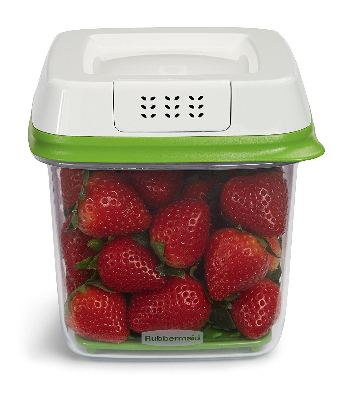 Rubbermaid FreshWorks Produce Saver Food Storage Container, Medium, 6.3 Cup, Gre 1