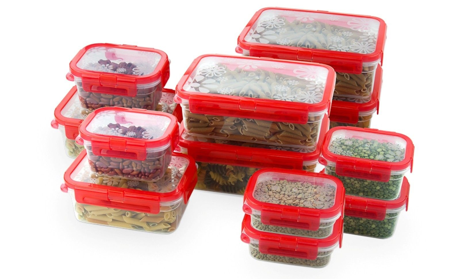 12 Pcs Plastic Food Storage Containers Set With Air Tight Locking Lids 1