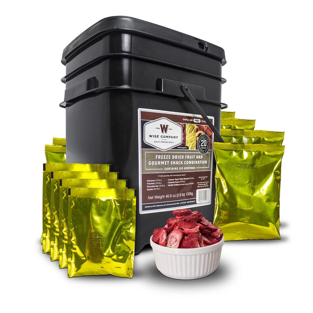 120 servings of Wise Emergency Survival Freeze Dried Fruit Food Storage 1