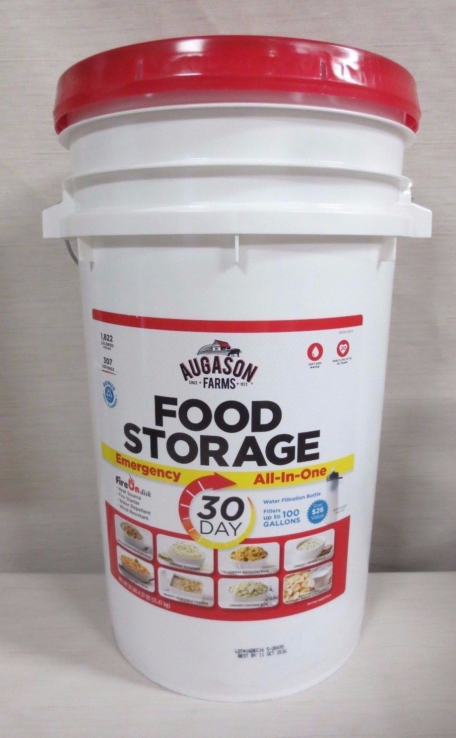 Augason Farms 30 Day All-in-One Emergency Food Storage Pail - EXP 2036 1
