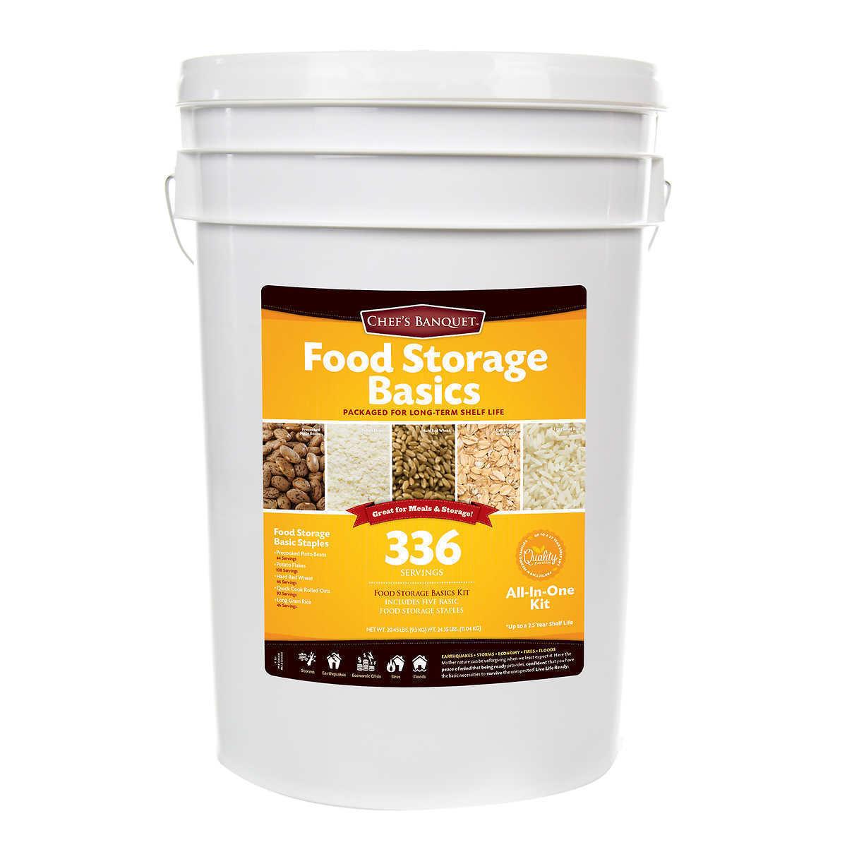 Chefs Banquet 336 Servings Emergency Food Storage Basics Supply Gamma Lid Bucket 1