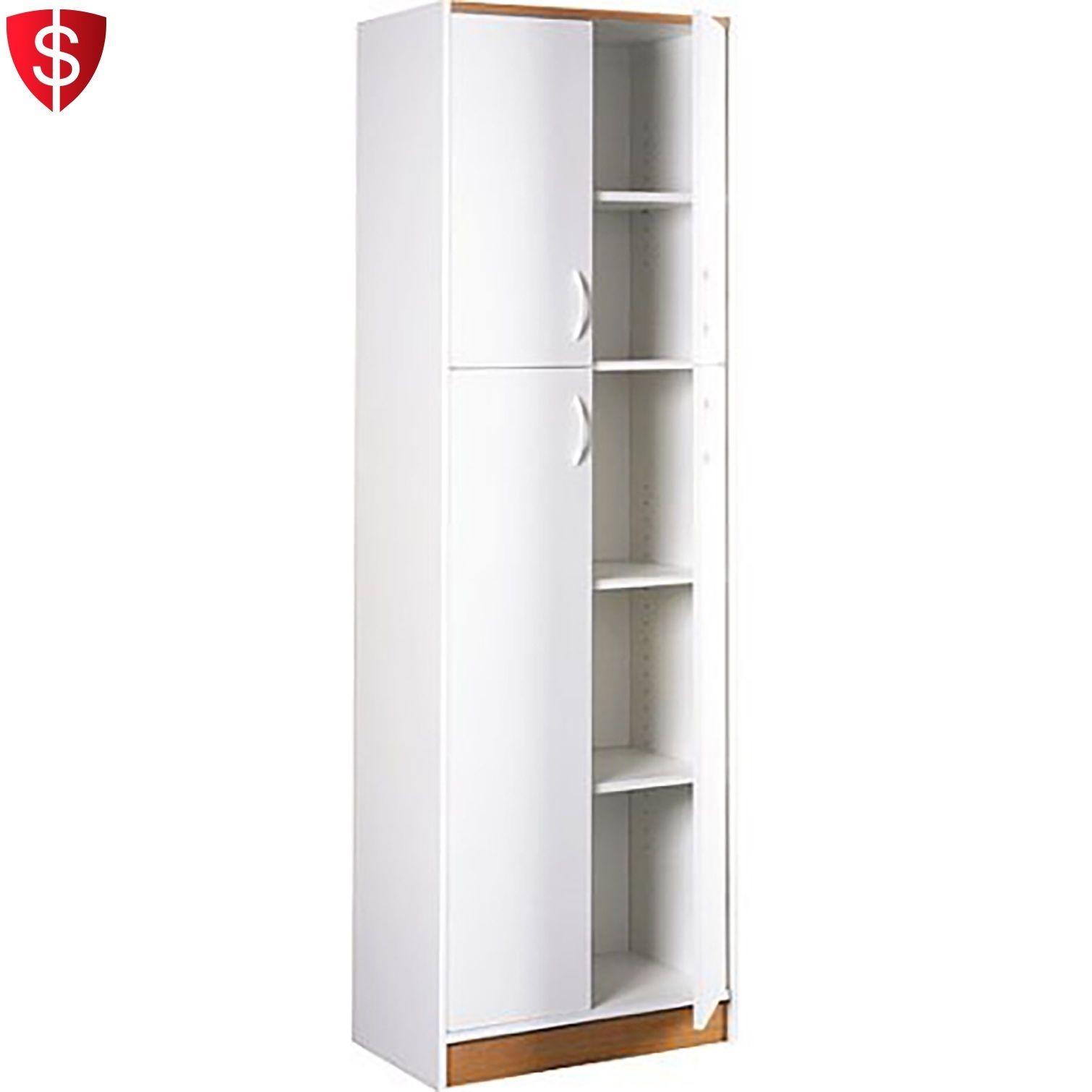Kitchen Pantry Storage Cabinet 5 Shelves Organizer Shelf Utility Food 4 Doors 1