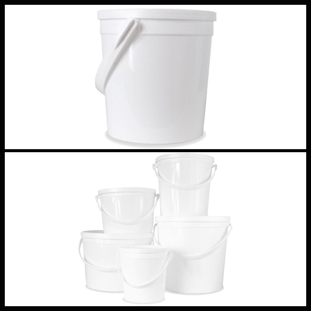 30 Packs Food Grade 0.25 Gallon Storage Bucket With All Metallic Handle and Lids 1